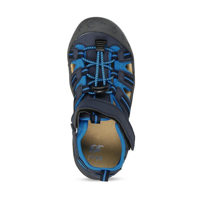 Modré dětské sandály na suchý zip mini-b, modrá, 261-9806 - 17