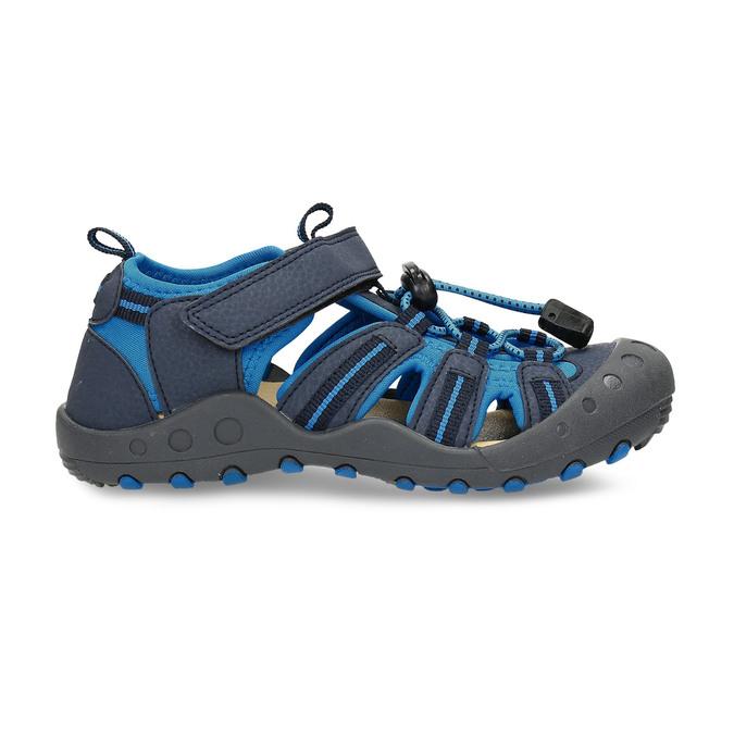 Modré dětské sandály na suchý zip mini-b, modrá, 261-9806 - 19
