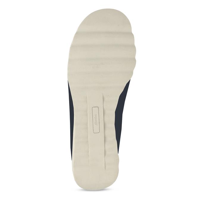Tmavě modrá kožená dámská slip-on obuv comfit, modrá, 524-9604 - 18