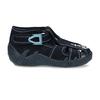Tmavě modré chlapecké papuče s vyšitou kotvou mini-b, modrá, 179-9603 - 19