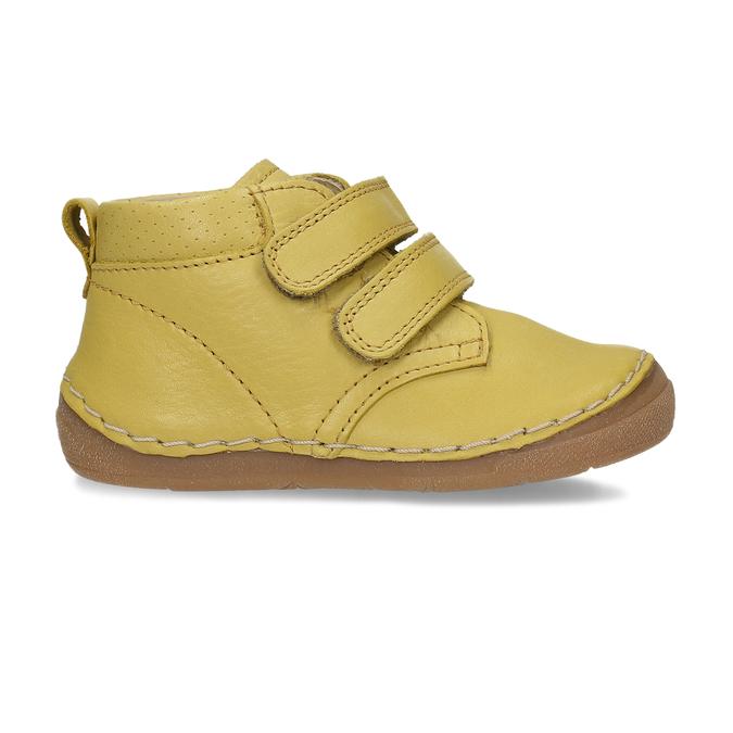 Žluté dětské kožené kotníkové tenisky froddo, žlutá, 124-8613 - 19