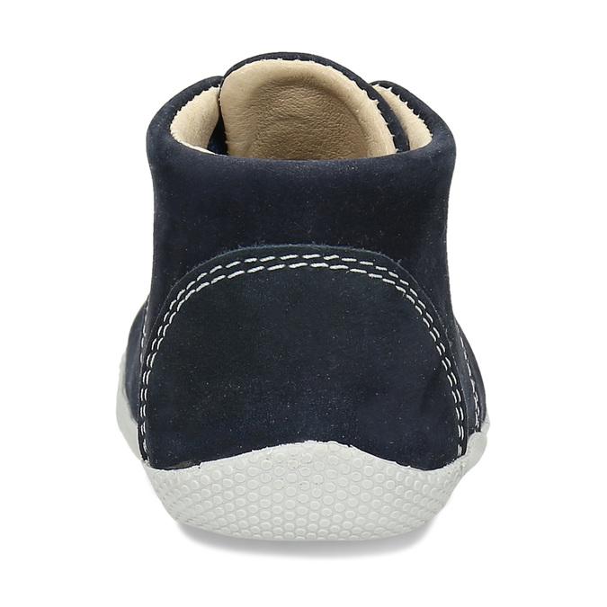 Modrá kožená dětská kotníková obuv bubblegummers, modrá, 116-9602 - 15