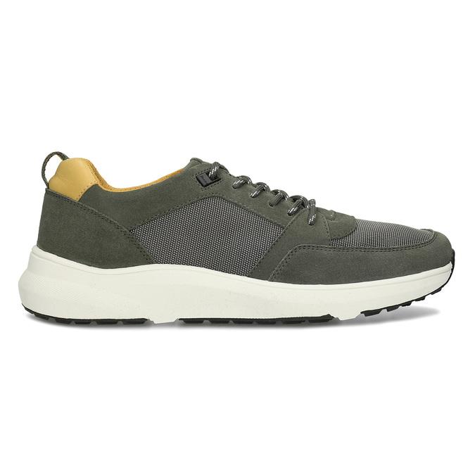 Khaki kožené pánské tenisky bata-light, zelená, 843-7638 - 19