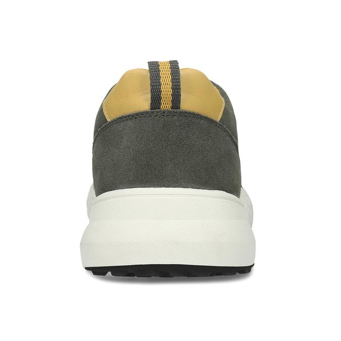 Khaki kožené pánské tenisky bata-light, zelená, 843-7638 - 15