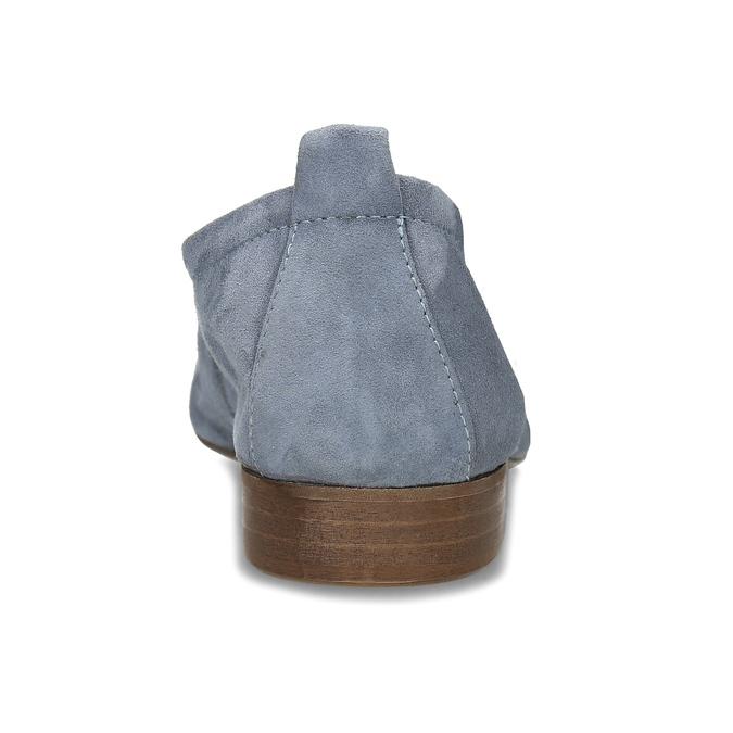 Dámské kožené světle šedé mokasíny bata, šedá, 516-2604 - 15