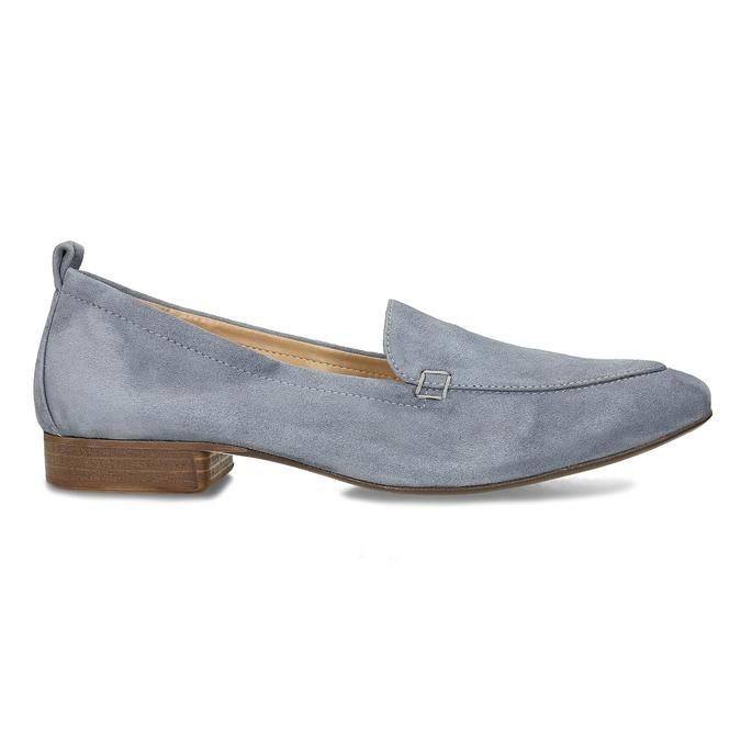 Dámské kožené světle šedé mokasíny bata, šedá, 516-2604 - 19