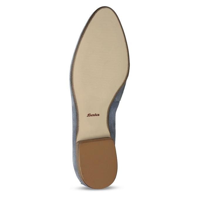 Dámské kožené světle šedé mokasíny bata, šedá, 516-2604 - 18