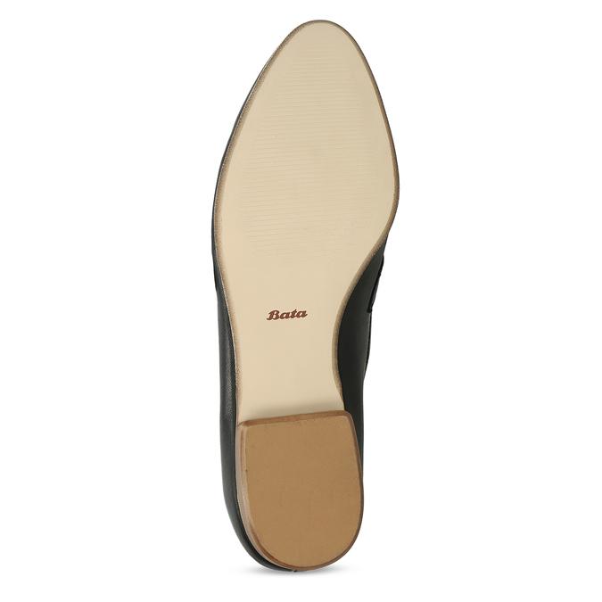 Černé kožené dámské mokasíny se sponou bata, černá, 514-6605 - 18