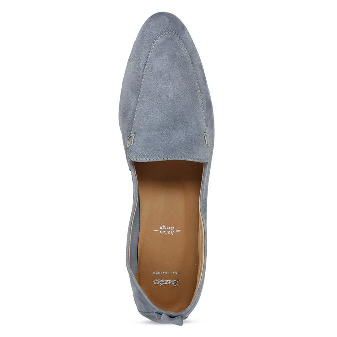 Dámské kožené světle šedé mokasíny bata, šedá, 516-2604 - 17