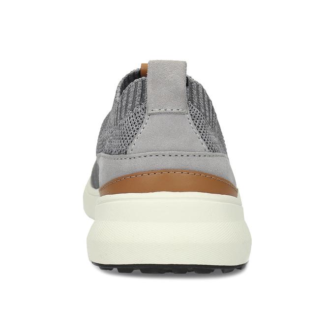 Pánské šedé tenisky z úpletu bata-light, šedá, 849-2637 - 15
