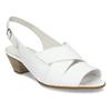 Bílé kožené dámské sandály pro širší chodidla gabor, bílá, 664-1104 - 13