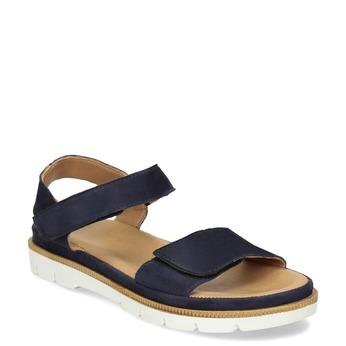 Modré dámské sandály z broušené kůže bata, modrá, 563-9601 - 13