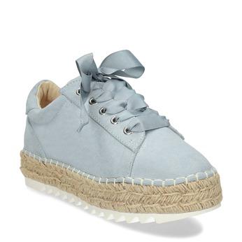 Modré dámské tenisky s přírodní podešví bata, modrá, 559-9607 - 13