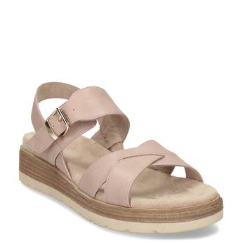 Dámské růžové páskové sandály bata, béžová, 561-5605 - 13