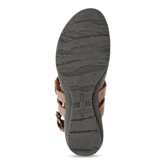 Hnědé dámské celokožené sandály weinbrenner, hnědá, 566-4616 - 18