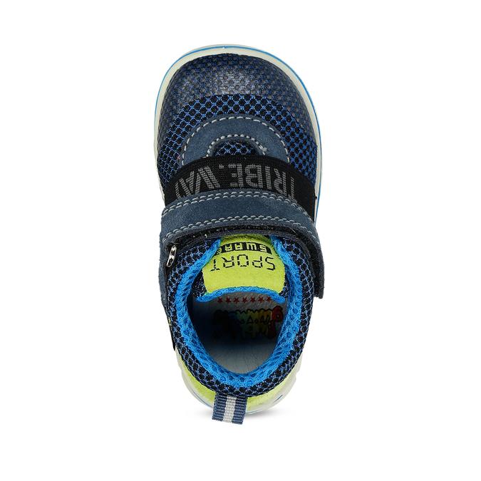 Dětská modrá kotníčková obuv na suché zipy bubblegummers, modrá, 111-9635 - 17