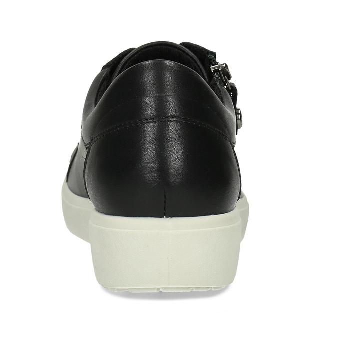 Dámské kožené černé tenisky městského stylu comfit, černá, 544-6605 - 15