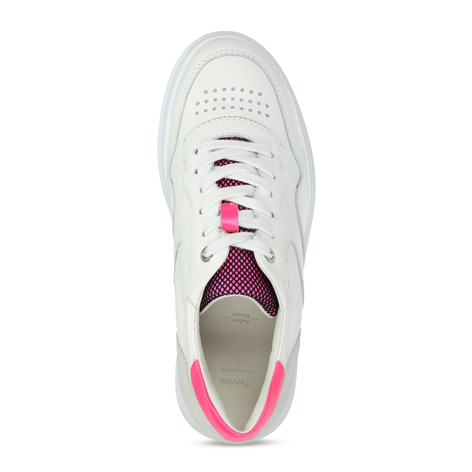 Dámské kožené bílé tenisky městského stylu bata, bílá, 544-5603 - 17