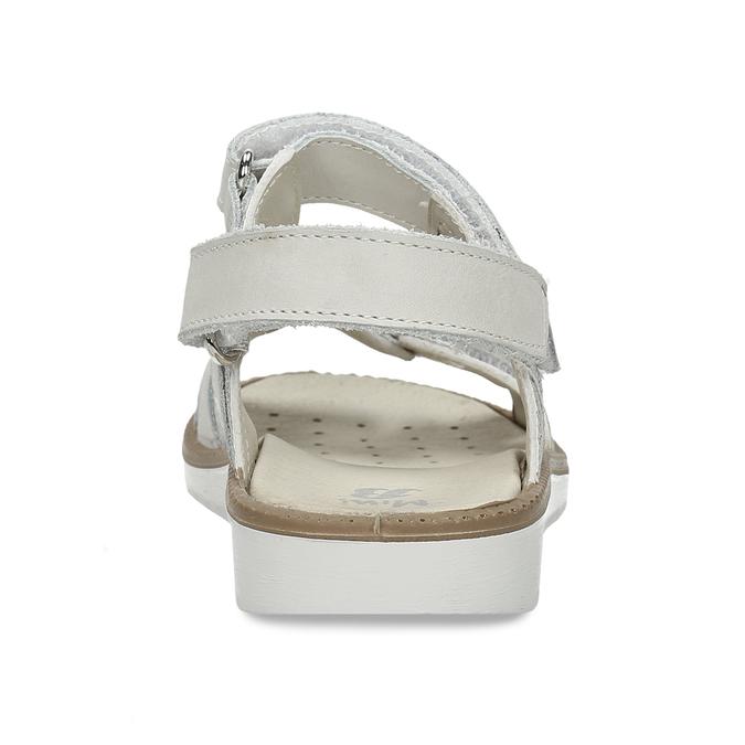 Stříbrné dětské sandály na suché zipy mini-b, stříbrná, 361-8602 - 15