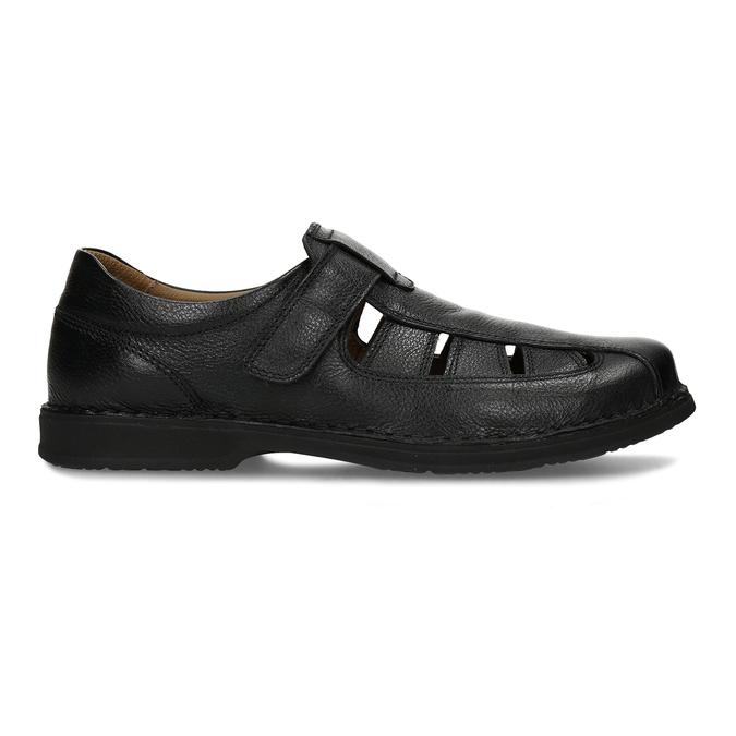 Černé pánské kožené sandály comfit, černá, 854-6761 - 19