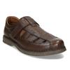 Hnědé kožené letní sandály pánské comfit, hnědá, 856-4761 - 13