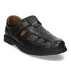 Černé pánské kožené sandály comfit, černá, 854-6761 - 13