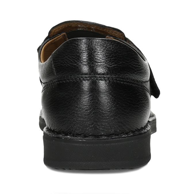 Černé pánské kožené sandály comfit, černá, 854-6761 - 15