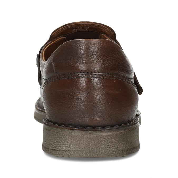 Hnědé kožené letní sandály pánské comfit, hnědá, 856-4761 - 15