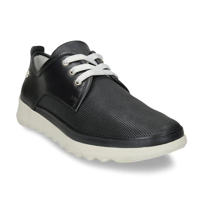Černé dámské kožené polobotky flexible, černá, 524-6619 - 13