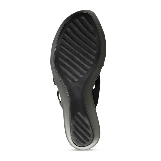 Černé dámské pantofle na platformě comfit, černá, 661-6626 - 18
