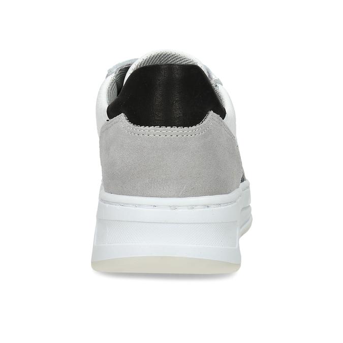 Bílé kožené dívčí tenisky se zvířecí texturou bullboxer, bílá, 426-1604 - 15