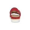 Dámské červené sandály z broušené kůže bata, červená, 563-5601 - 15