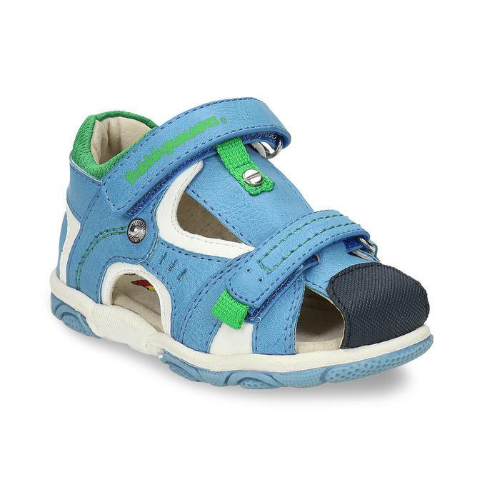 Modré dětské sandály se zelenými detaily bubblegummers, modrá, 161-9618 - 13
