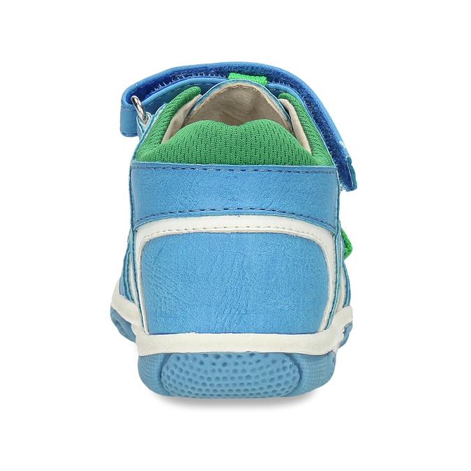 Modré dětské sandály se zelenými detaily bubblegummers, modrá, 161-9618 - 15