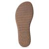Bílé kožené dámské sandály s prošitím comfit, bílá, 564-1610 - 18