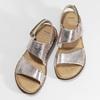 Zlaté dámské kožené sandály comfit, zlatá, 565-8601 - 16