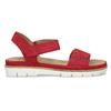 Dámské červené sandály z broušené kůže bata, červená, 563-5601 - 19