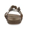 Kožené hnědé sandály se zlatými pásky mini-b, hnědá, 266-4605 - 15