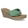 Kožené pantofle se zeleným prvkem v bohémském stylu bata, zelená, 764-7612 - 13