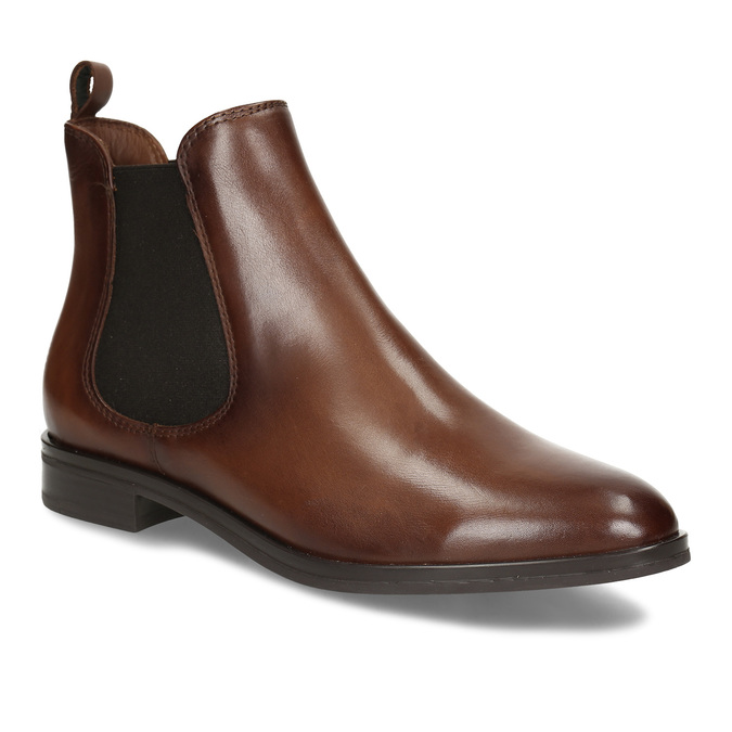 Kožená dámská Chelsea obuv hnědá bata, hnědá, 594-4617 - 13