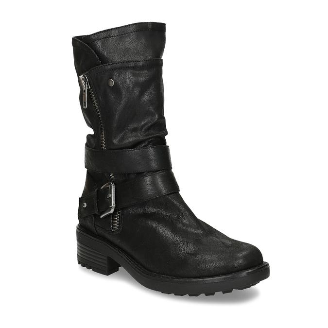 DÁMSKÉ BIKER BOOTS ČERNÉ bata, černá, 599-6605 - 13