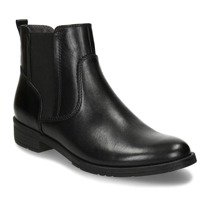 Dámská kožená Chelsea obuv černá bata, černá, 594-6704 - 13
