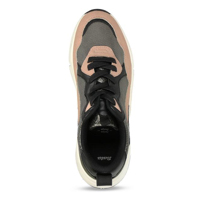 Černo-růžové dámské Chunky tenisky bata, vícebarevné, 549-5601 - 17