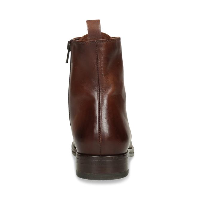 Dámská kožená kotníková obuv na zip bata, hnědá, 594-4620 - 15
