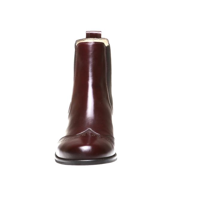 Trendy kožená Chelsea obuv bata, červená, 2019-594-5275 - 16