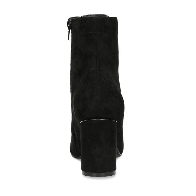 Černá dámská kotníková obuv se šněrováním bata, černá, 799-6613 - 15