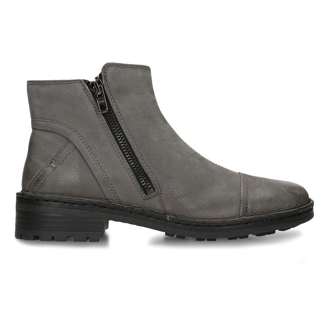 Dámské kotníkové boty z šedé kůže bata, šedá, 596-2609 - 19