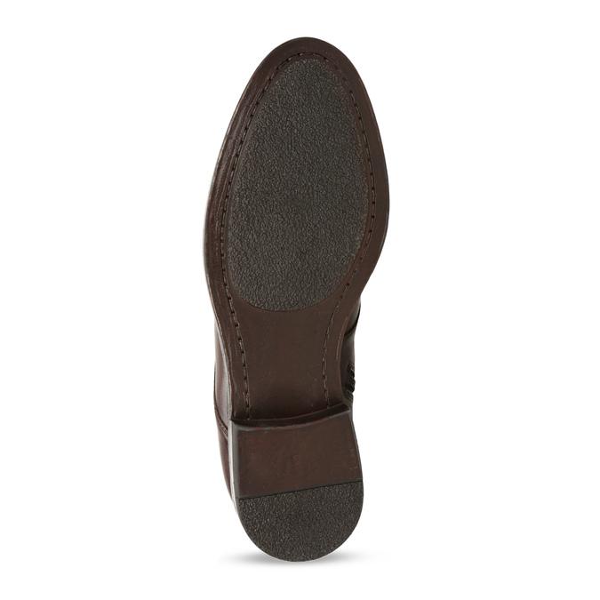 Dámská kožená kotníková obuv na zip bata, hnědá, 594-4620 - 18