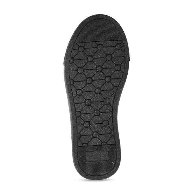 Černé dívčí kotníkové tenisky s hvězdami mini-b, černá, 221-6603 - 18