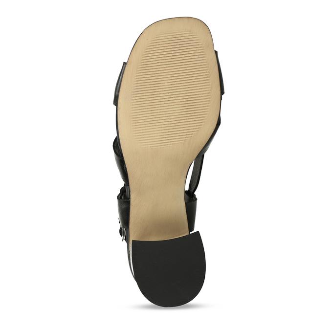 Kožené sandály v černé barvě na vysokém podpatku bata, černá, 764-6605 - 18